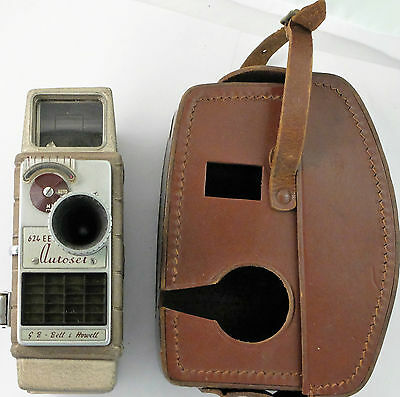 G.B. BELL & HOWELL 624 EE 8mm Cine Camera & Leather Case