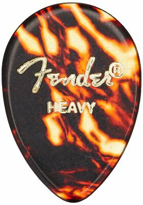 Fender 358 Shape Celluloid Guitar Picks - SHELL, HEAVY - 72-Pack (1/2 Gross)