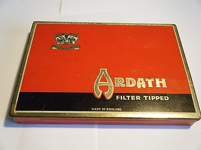 Vintage Ardath Tobacco Company Ltd Hinged Cigarette Tin Very Good Condition