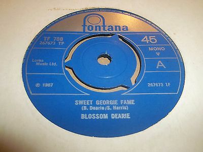"Blossom Dearie "" Sweet Georgie Fame "" 7"" Single Excellent 1967 Fontana Jazz"