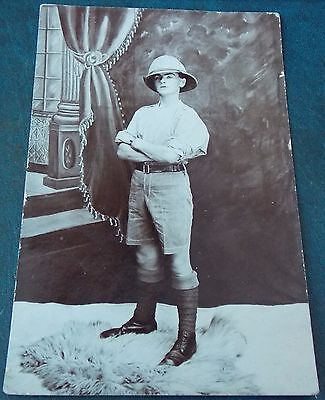 Rare Post Ww1 Rp Pc  Somerset Light Infantry Soldier In India