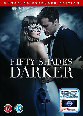Fifty ( 50 ) Shades Darker Unmasked Extended Edition   New Sealed Uk Dvd
