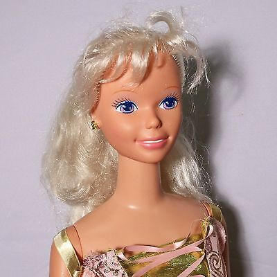 """Vtg My Size Barbie Rapunzel Doll 1976 Head, 1992 Body  37.5"""" Tall - Made in Mexi"""
