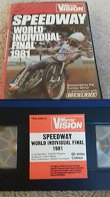 1981 World Speedway Final Wembley Bruce Penhall Original Video