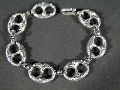 Vintage Fancy 800 Sterling Silver Gucci Anchor Style CHARM BRACELET