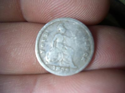 SILVER VICTORIAN GROAT   COIN DATED 1838  from a large  COIN COLLECTION  FIND