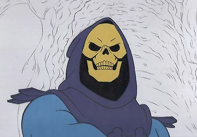 He-Man & MOTU Skeletor 1980's Production Animation Cel and KEY Drawing Filmation