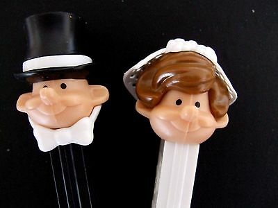 PEZ Bride and Groom Dispensers.......perfect as  Wedding Favors or Cake toppers