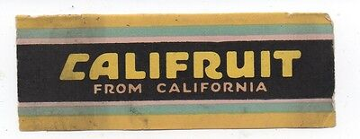 1930s Partial Label from Califruit Chewing Gum Wrapper