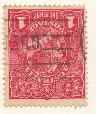 SG 21cw 1d George V GOOD/Fine Used INVERTED Waterrmark