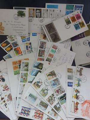 First Day Cover Collection 33 covers from 1970's 1980's Special Postmarks Msc