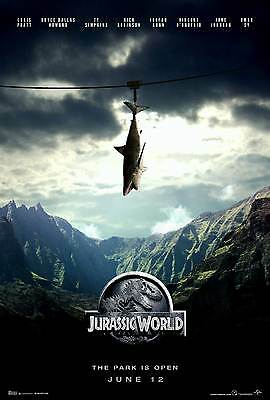 JURASSIC WORLD  PARK MINI LAMINATED A4 MOVIE POSTER SPEILBERG style 3