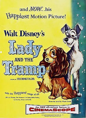 Lady And The Tramp Laminated Mini Movie Poster Disney A4 Print