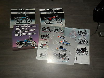 Lot Brochures Publicitaires Suzuki Advertising Brochures