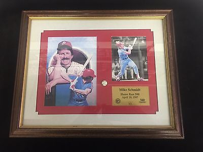 Mike Schmidt 500Th Homerun Call Plaque Harry Kalas Ex Condition Works Very Well
