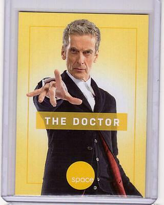 PETER CAPALDI as The Twelfth Doctor Who SpaceDeck Space Channel Promo Card RARE
