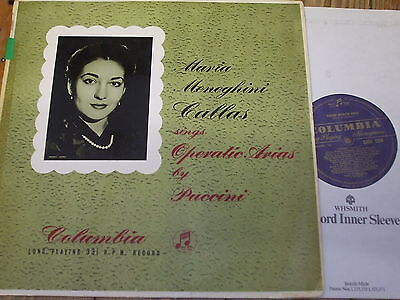 33CX 1204 Puccini Operatic Arias / Callas GROOVED B/G