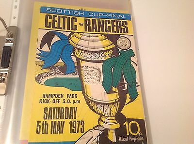 Rare Scottish  Cup Final 1973 5Th May Celtic V Rangers