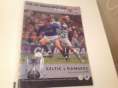 Rare Scottish Coop League Cup Final 2003 16Th March Celtic V Rangers