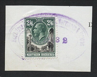 N.rhodesia 1932 Kgv 2/6 Used On Piece As Fiscal.       A315