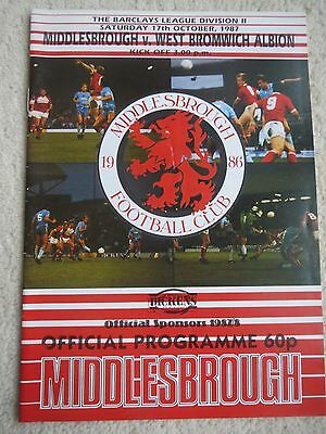 Middlesbrough V West Brom  1987/8
