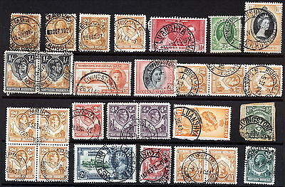 N.rhodesia Interesting Postmarks On Early Issues.      A282