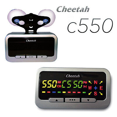 Cheetah C550 GPS Speed And Red Light Camera Detector