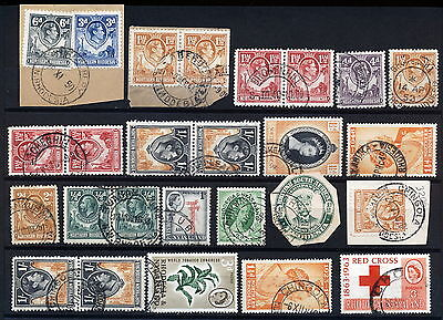 N.rhodesia Interesting Postmarks On Early Issues.      A290