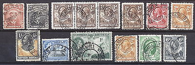 N.rhodesia Interesting Postmarks On Early Issues.      A291