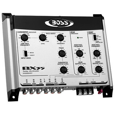 Boss Audio BX35 - 3-Way Electronic Crossover Car Subwoofer