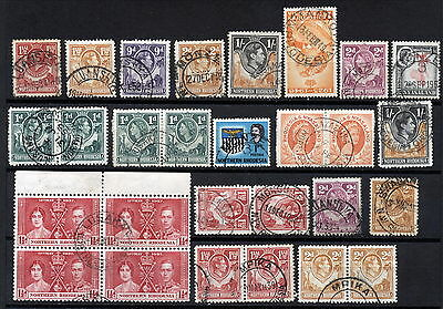 N.rhodesia Interesting Postmarks On Early Issues.      A295