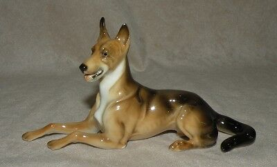 Vintage Porcelain Hutchenreuther German Shepherd Dog Figurine From Estate