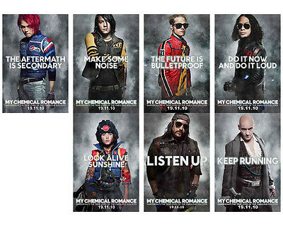 MY CHEMICAL ROMANCE DANGER DAYS 6x4 PROMO PHOTO SET GERARD WAY FRANK IERO