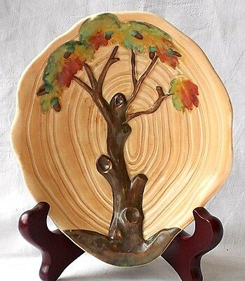 Carlton Ware Dish Decorated With A Relief Moulded Tree