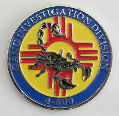 New Mexico State Farmington Police Gang Detective Investigator Challenge Coin