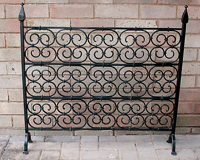 Vintage Wrought Iron Fire Guard