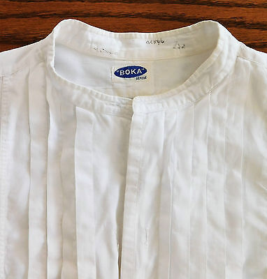Vintage French tunic shirt Pleated fronts size 15.5 Boka mens evening dress wear