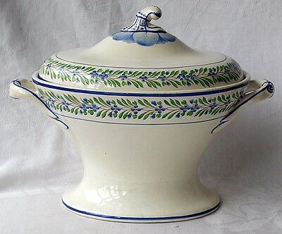 Early C19Th Spode Creamware Tureen, Inner Liner And Cover