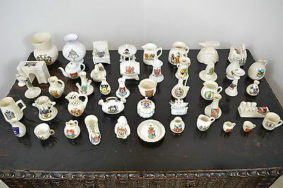 Vintage 45 Pieces Of Willow Art Crested Ware China British Towns & Cities