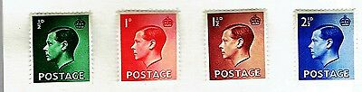 1936 Great Britain Edward VIII  SET OF 4 Sc#230-3 Mint/H  Abdicated Throne