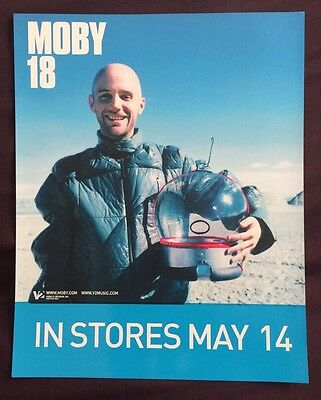 "Moby ""18"" Very Rare 2002 Promotional Window Cling"