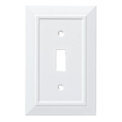 W35241-PW Pure White Architect Single Switch Wall Cover Plate