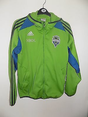 """Seattle Sounders fc football tracksuit jacket by adidas size m MLS 40/42"""""""