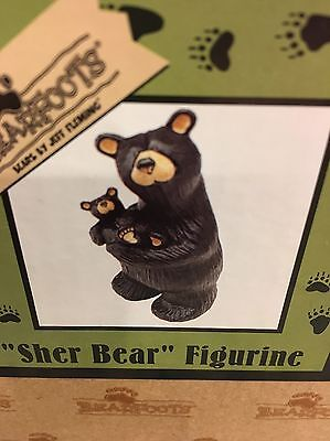 New Barefoot Bears  Sher Mama Baby Full Size Big Sky Carver Figurine bx42