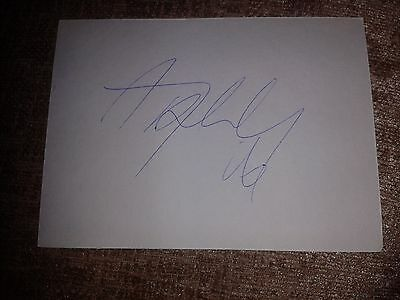 Rangers Andy Halliday HAND SIGNED card