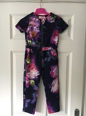Baker By Ted Baker At Debenhams Floral Print Jumpsuit - Age 2-3 - Bnwt