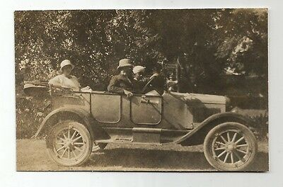 po transport small old photograph england travel motor car