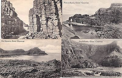 po northern ireland ulster irish 4  postcards of the giants causeway