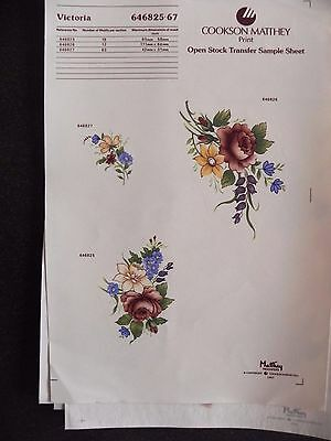 4 Ceramic Decal Sheets - Flowers - Victoria, Mayfair and Victorian Garden