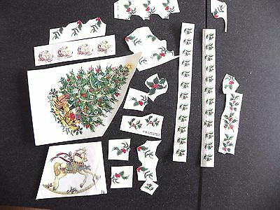 Christmas Ceramic Decals - Approx 50 (some trimmed)